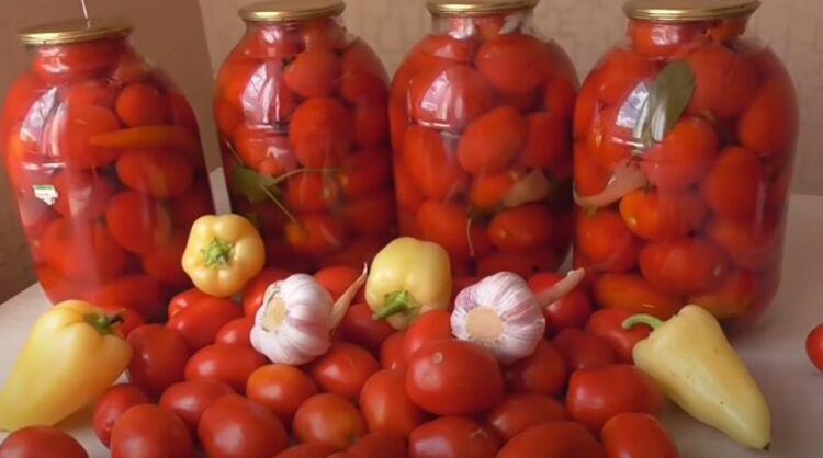 рецепт соленых помидоров на зиму без стерилизации