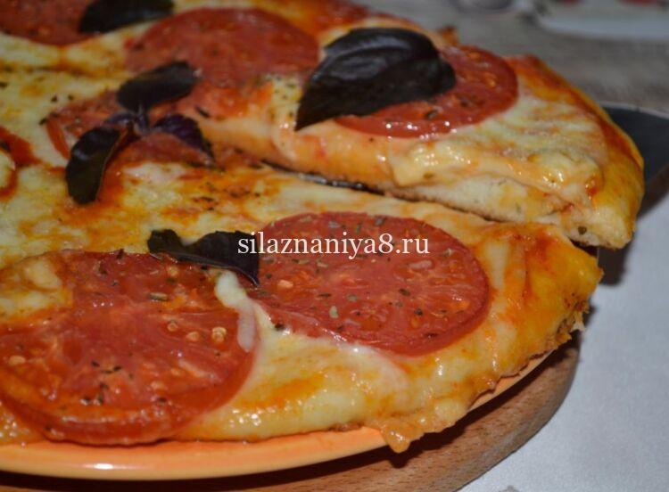 как приготовить пиццу маргарита в домашних условиях на тонком тесте