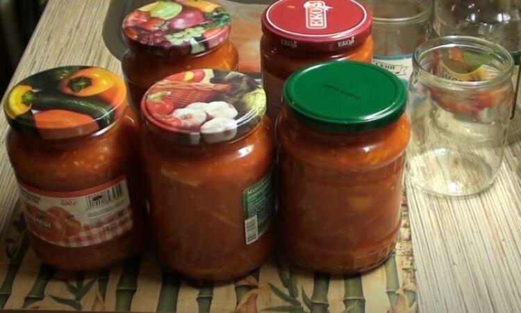 Рецепт лечо на зиму из перца и помидор с чесноком