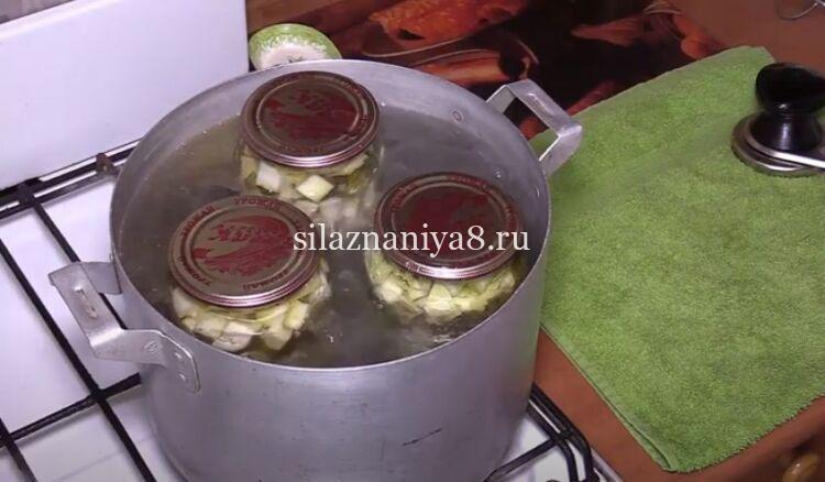 Рецепт маринованных кабачков с чесноком и петрушкой в литровых банках