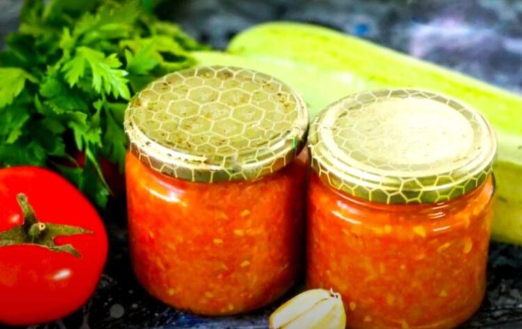 Рецепт приготовления кабачковой аджики с луком