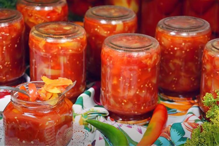 лечо из помидор и перца на зиму