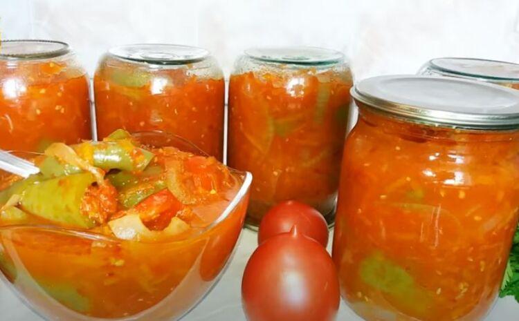 лечо с болгарским перцем, морковью и луком