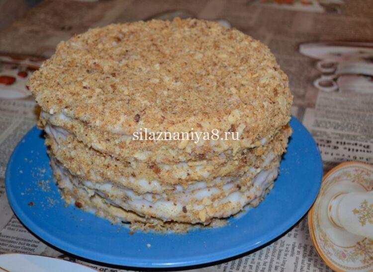 классический торт наполеон с заварным кремом