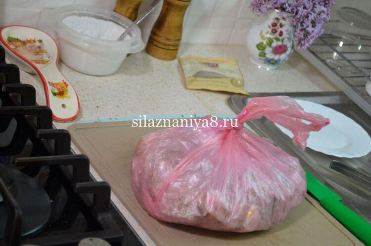 рецепт вареного сала в пакете для запекания со специями и чесноком
