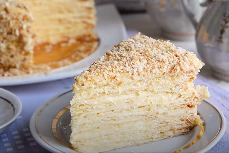 торт наполеон с заварным кремом классический пошаговый рецепт