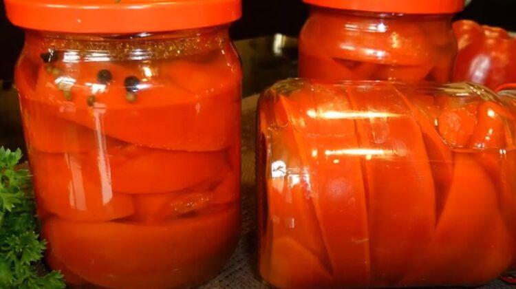 Консервированный болгарский перец с медом на зиму