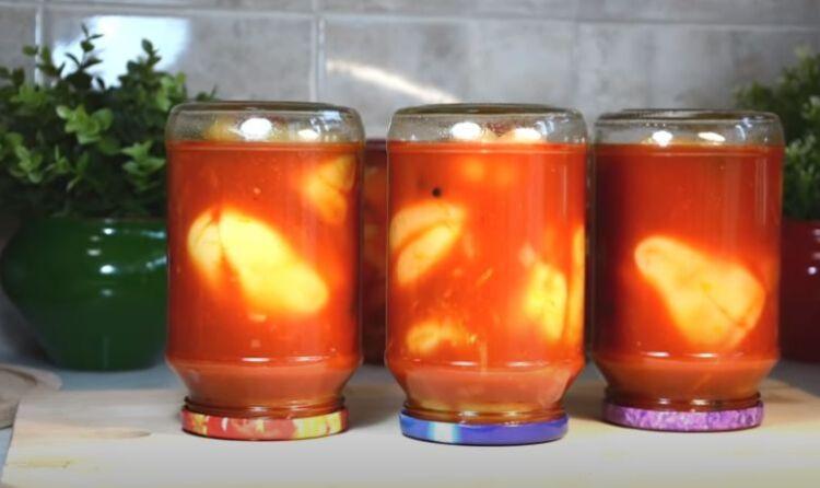 Рецепт перца для фарширования в томатном соке