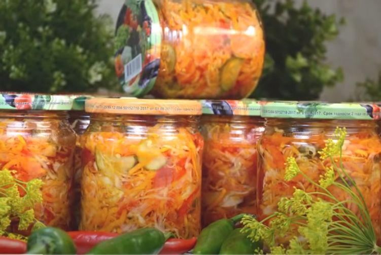 кубанский салат на зиму