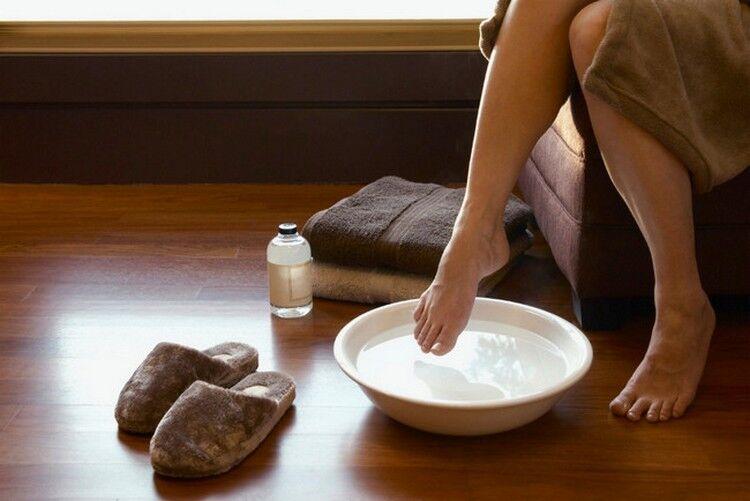 ванночки для пяток с содой и перекисью водорода