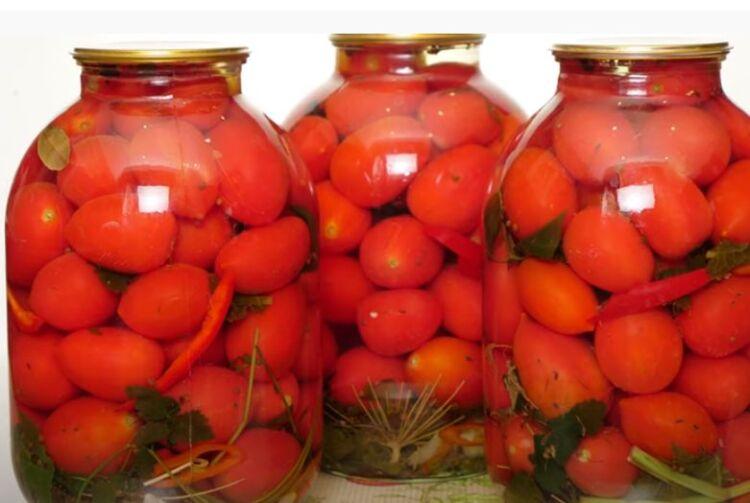 маринованные помидоры в 3 литровых банках