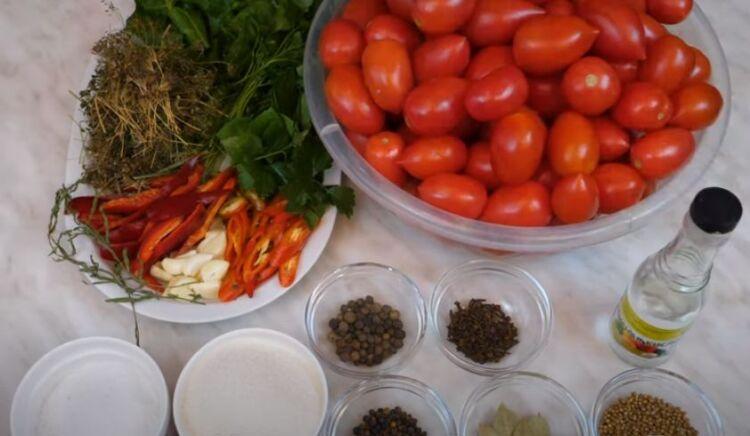 помидоры на зиму в 3 литровых банках без стерилизации
