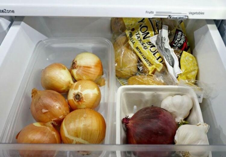 чеснок в холодильнике
