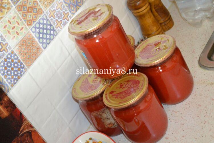 Кетчуп с луком на зиму из помидор