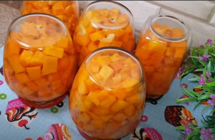 Рецепт манго из тыквы на зиму со стерилизацией