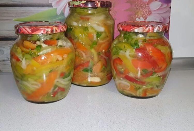 салат из зеленых помидор простой