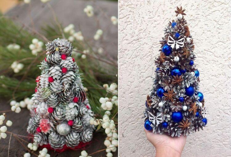 елка из шишек на новый год