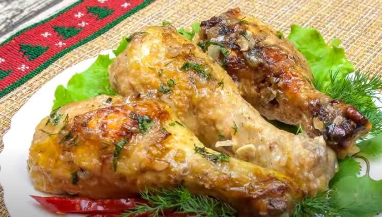 как вкусно запечь куриные голени в духовке