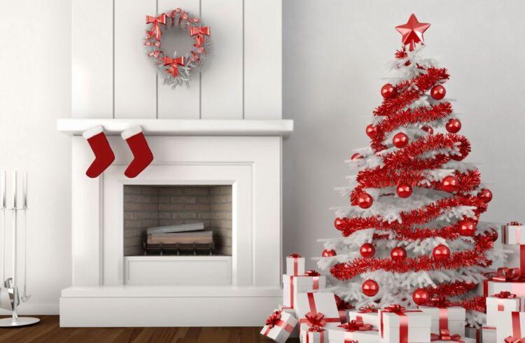 как украсить елку белого цвета