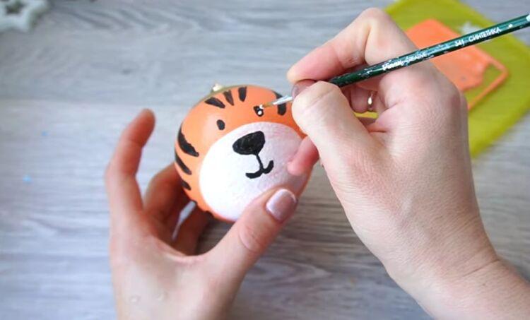 игрушка на елку тигр своими руками символ 2022 года