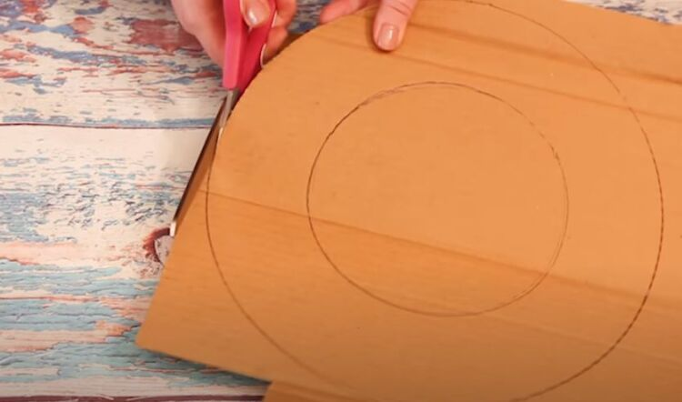 основа для рождественского венка из картона