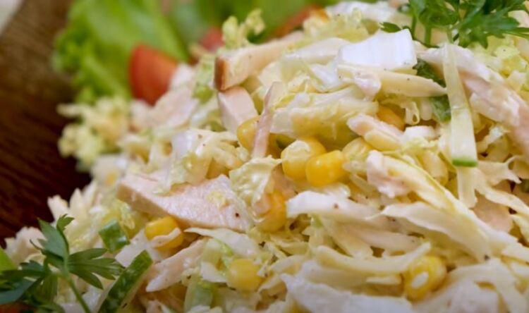 салат из пекинской капусты Зимняя сказка