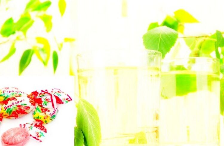 березовый сок с барбарисом