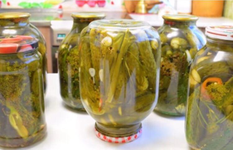 Самый вкусный рецепт огурцов с лимонной кислотой и горчицей зернах