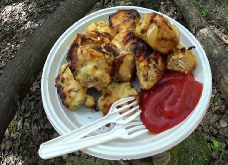 шашлык из куриной грудки с маринадом из кефира