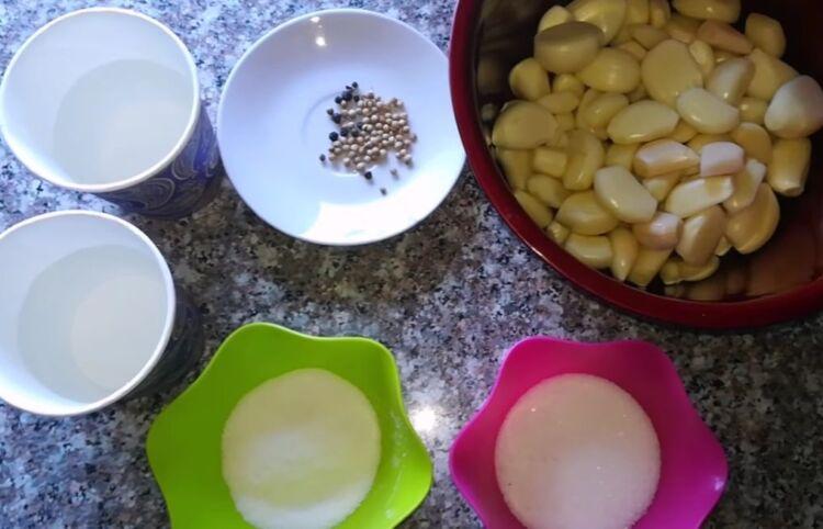 маринованный чеснок — рецепт быстрого приготовления