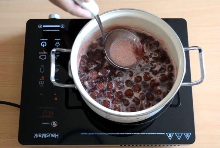 Как приготовить варенье из черешни без косточек пятиминутка