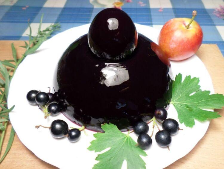желе из черной смородины с желатином