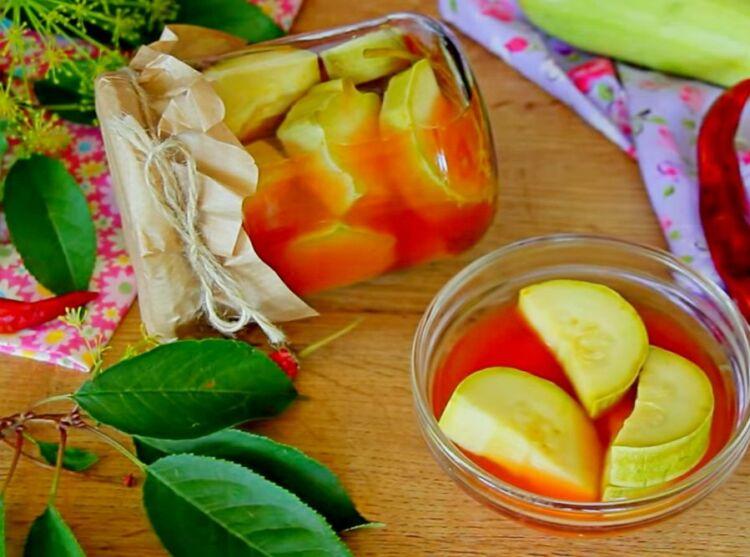 кабачки в кетчупе на зиму обалденный рецепт