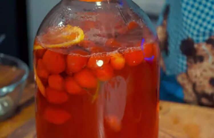 компот клубничный мохито на зиму на 3 литровую банку