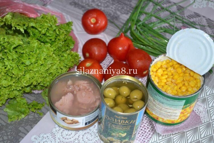 Салат без майонеза на Новый год с тунцом
