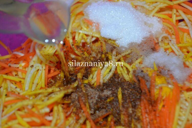 Кабачки по-корейски с приправой для корейской моркови