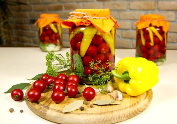 помидоры черри в желе