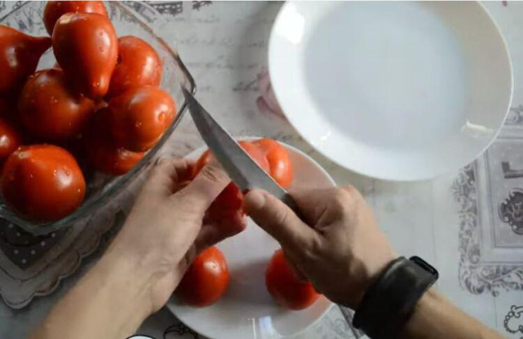 помидоры в томатном соку на зиму без стерилизации
