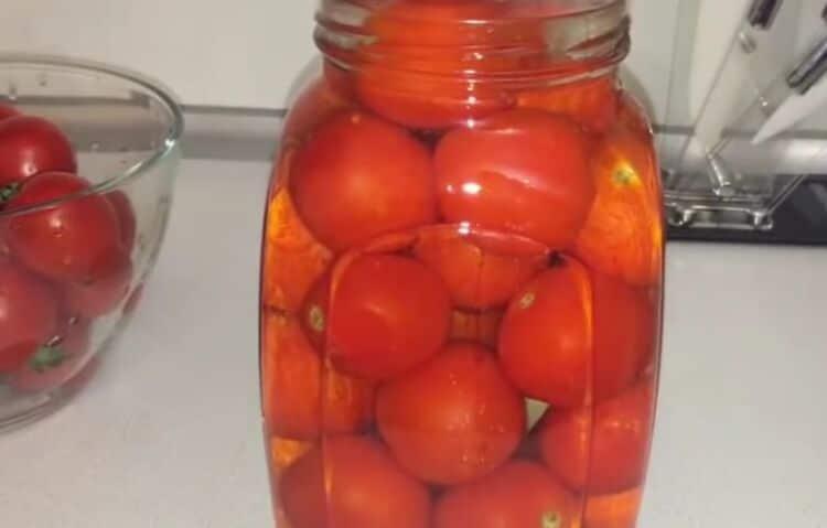 помидоры в томатном соку на зиму без уксуса