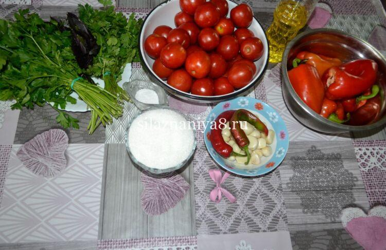 аджика из помидор и перца на зиму