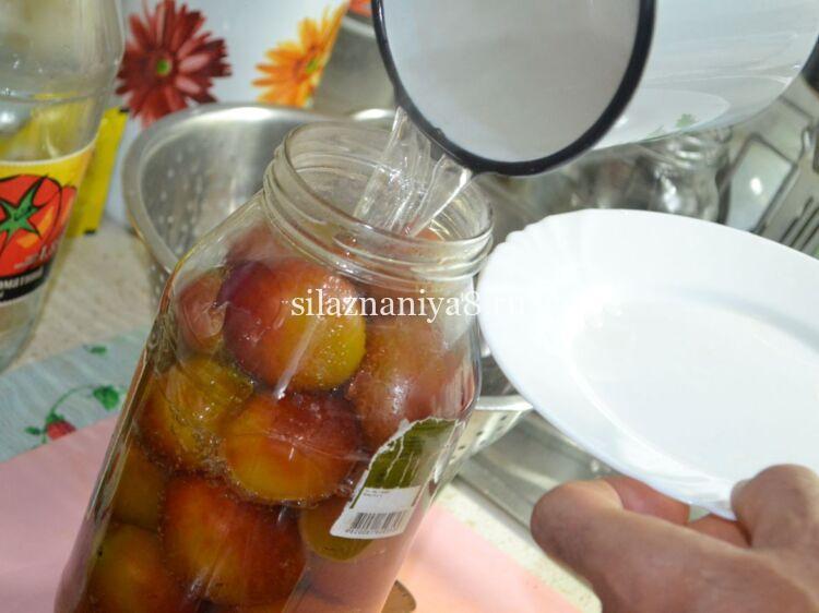 вкусный компот из слив на зиму на 2 литровую банку