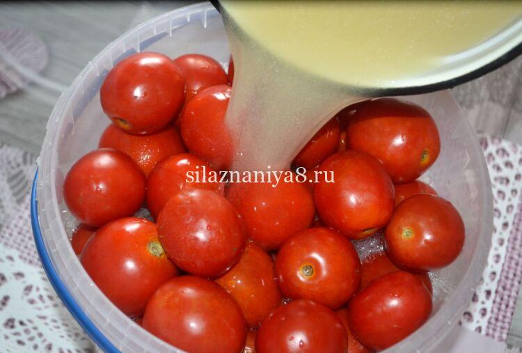 квашеные помидоры с горчицей на зиму в ведре как бочковые