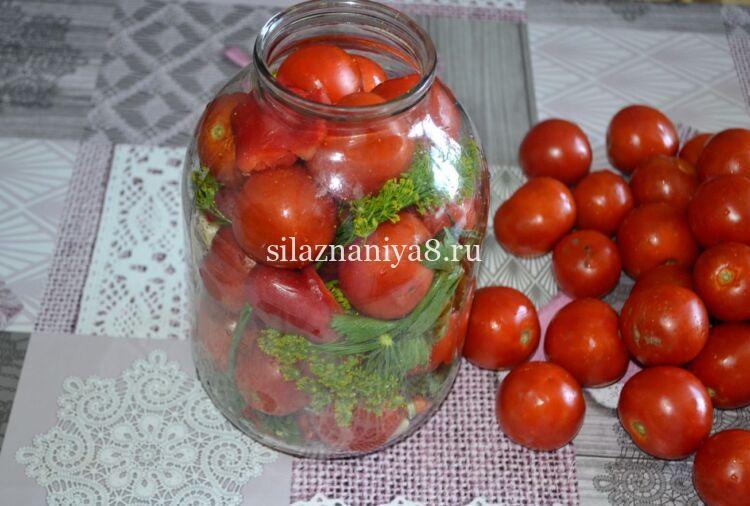 помидоры без стерилизации с лимонной кислотой в 3 литровой банке