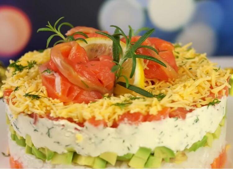 салат без майонеза на праздничный стол